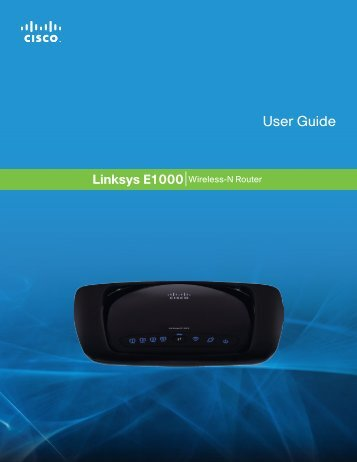 Linksys E1000 User Guide - SWS a.s.