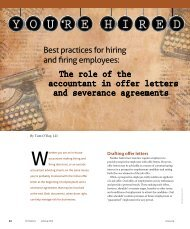 The role of the accountant in offer letters and severance ... - WICPA