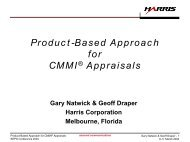 Product-Based Approach for CMMI Appraisals - Software ...