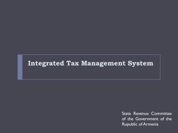 Integrated Tax Management System