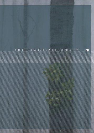 20 the beechworth–mudgegonga fire - 2009 Victorian Bushfires ...