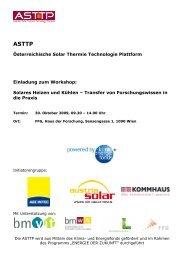 Programm (PDF, 213 kB) - Austria Solar