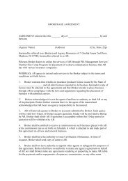 BROKERAGE AGREEMENT AGREEMENT entered into this ______ ...