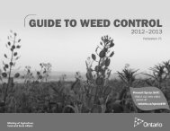 Guide To Weed Control, 2012-2013 - Ontario Ministry of Agriculture ...