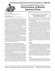 Performance of Market Advisory Firms - OSU Fact Sheets ...