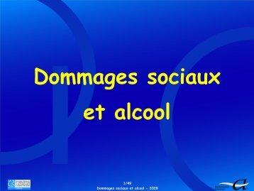 Dommages sociaux et alcool - SFA
