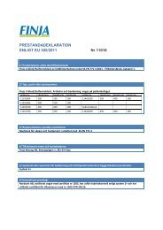 PRESTANDADEKLARATION ENLIGT EU 305/2011 Nr 11016 - Finja
