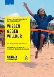 Wissen gegen Willkür_2008 - Amnesty International Schweizer ...