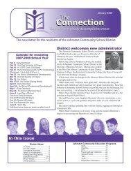 January - Johnston Community School District