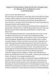 Verabschiedung Propst Helmut Liersch