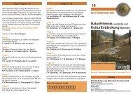 KulturEntdeckungWallenfels - Ökologische Bildungsstätte Oberfranken