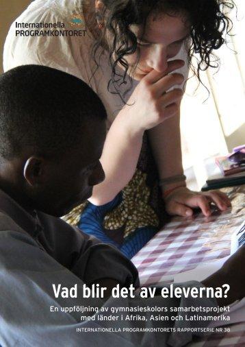 Vad blir det av eleverna? (pdf) - Internationella programkontoret för ...