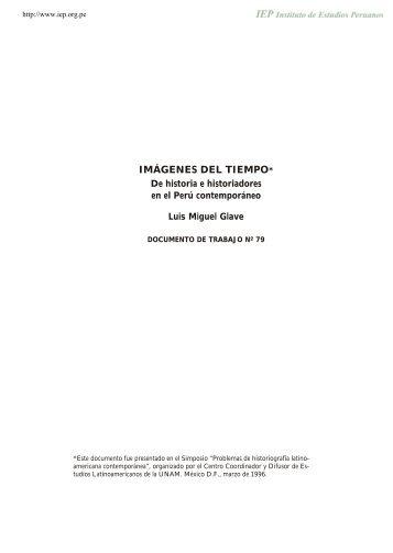 de historia e historiadores en el Peru contemporaneo
