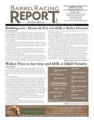 3/19 - Barrel Racing Report