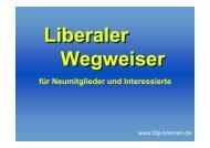 Liberaler Wegweiser für Neumitglieder und Interessierte