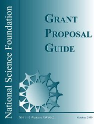 NSF 01-2 - Grant Proposal Guide - Department of Biology