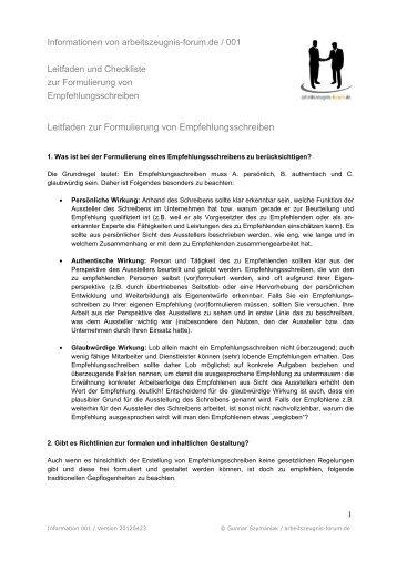 empfehlung schreiben deutsch muster - Kubre.euforic.co