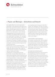 Papier und Ökologie – Scheufelen und Umwelt