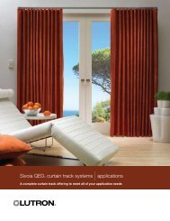 Sivoia QED® curtain track systems |applications - Lutron