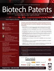 ACI Biotech Conference - Patents4Life by Warren Woessner