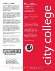 FALL 2013 - San Diego City College