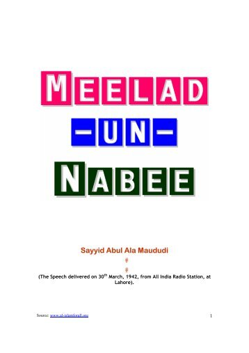Meelad-un-Nabi - Prophet Muhammad (SAW) for All