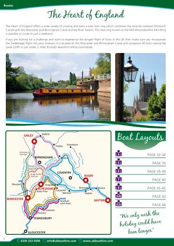 Holidays in the Heart of England - UK Boat Hire