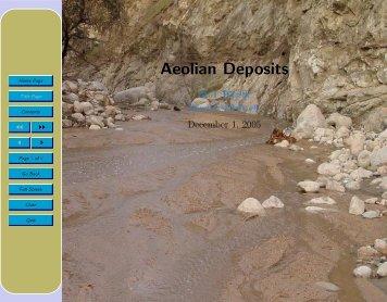 Aeolian Deposits - Glyfac.buffalo.edu