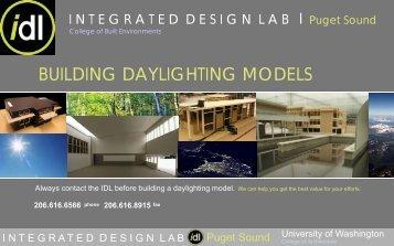 BUILDING DAYLIGHTING MODELS - University of Idaho