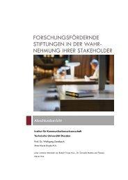 forschungsfördernde stiftungen in der wahr - VolkswagenStiftung ...