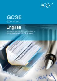 GCSE English Specification - Kingsdown School