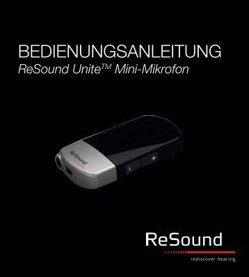 ReSound Unite Mini-Mikrofon - Bedienungsanleitung