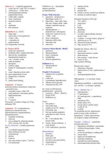 Pedijatrija – sindromi.pdf - Beli Mantil