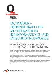 Factsheet 2011 - Verband Schweizer Presse