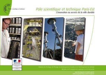 Brochure Pôle Scientifique et Technique Paris-Est - Ifsttar