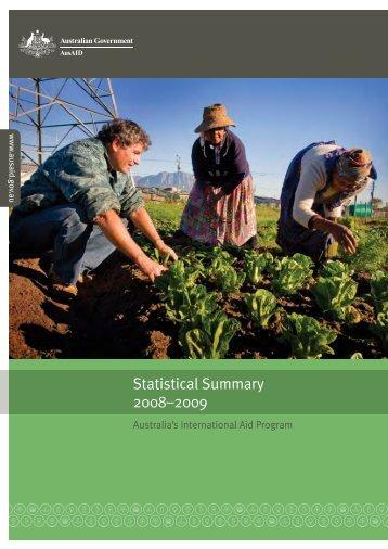 Statistical Summary 2008-2009: Australia's International ... - AusAID