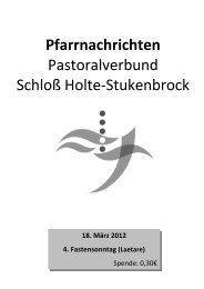 Sonntag, 18. März 2012 - Pastoralverbund Schloß Holte - Stukenbrock