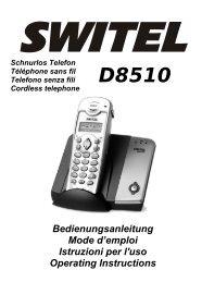 Bedienungsanleitung Mode d'emploi Istruzioni per l'uso ... - Switel.com