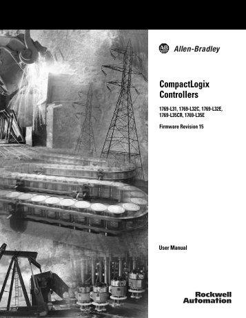 1769-UM011E-EN-P, CompactLogix Controllers User Manual