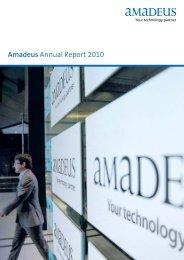 Amadeus Annual Report 2010 - Investor relations at Amadeus