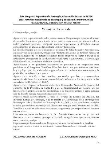 Programa del Congreso 1 - aress