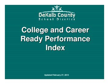 CCRPI - General Presentation.pdf - CommunityNet: DeKalb County ...