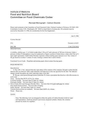 food chemicals codex pdf