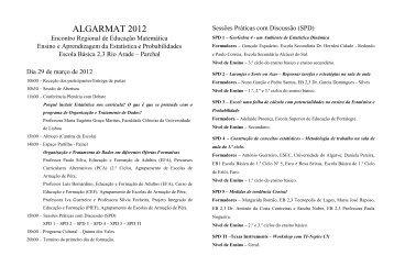 ALGARMAT 2012 - Associação de Professores de Matemática
