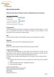 Ziele und Zusammenarbeit - Gemeinsam gesunde Schule entwickeln