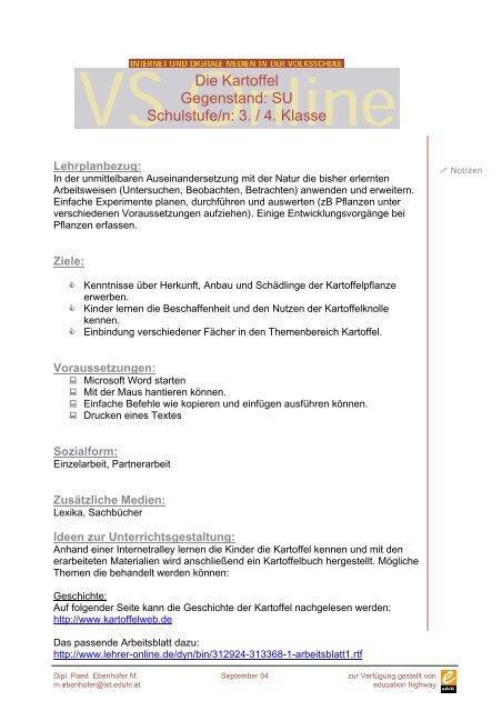 Arbeitsblatt Nutzpflanze Getreide Schule At