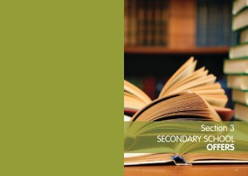 Section 3 SECONDARY SCHOOL OFFERS - Buckinghamshire ...
