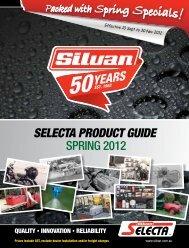 SELECTA PRODUCT GUIDE SPRING 2012 - Silvan Australia
