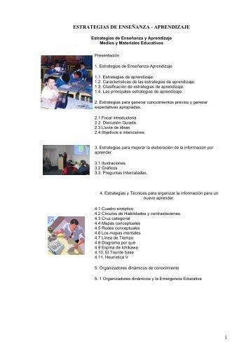 1 ESTRATEGIAS DE ENSEÑANZA - APRENDIZAJE