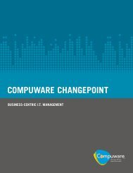 COMPUWARE CHANGEPOINT - Mainsoft